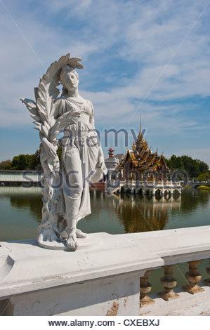 Bang Pa-In Royal Palace, near Ayutthaya, Thailand, Southeast Asia, Asia - Stock Photo