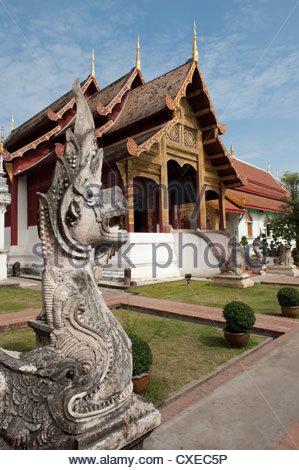 Wat Phra Singh, Buddhist temple, Chiang Mai, Thailand, Southeast Asia, Asia - Stock Photo