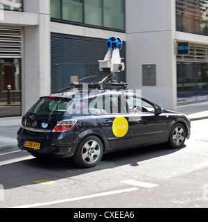 Google Street view camera car with roof mounted plotting equipment - Stock Photo