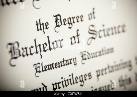 Diploma wording - Stock Photo