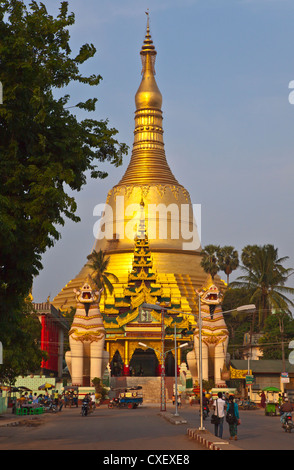 The SHWEMAWDAW PAYA is a 1000 years old and 114 meters high - BAGO, MYANMAR - Stock Photo