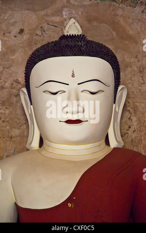 BUDDHA STATUES inside SULAMANI TEMPLE which was built in 1183 by Narapatisithu - BAGAN, MYANMAR - Stock Photo
