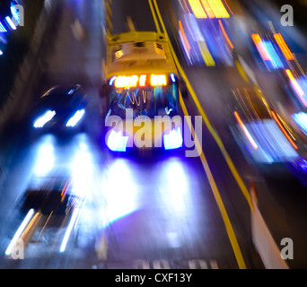 busy big city night traffic - Stock Photo