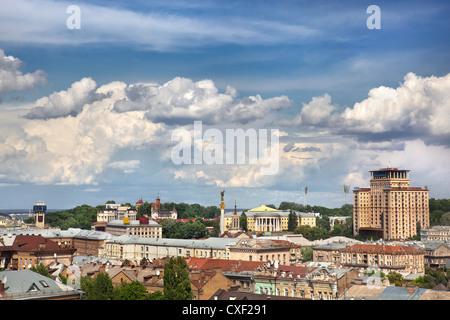 Kiev summer center cityscape - Stock Photo