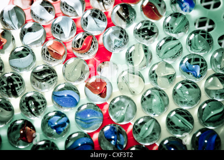 Chinese checkers glass ball - Stock Photo