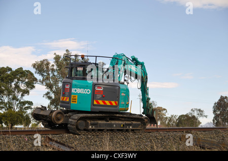 Railway maintenance machinery - Stock Photo
