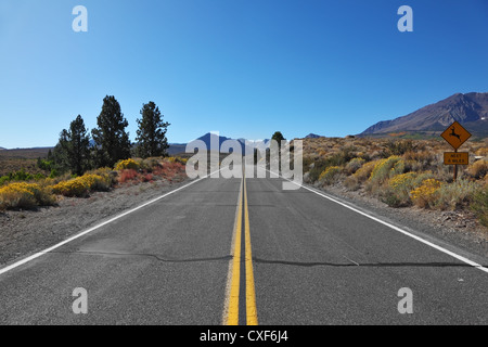 The road went off. Great American road - Stock Photo
