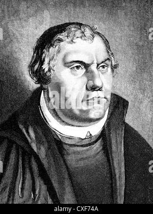 Martin Luther, 1483 - 1546, theologian and reformer, - Stock Photo
