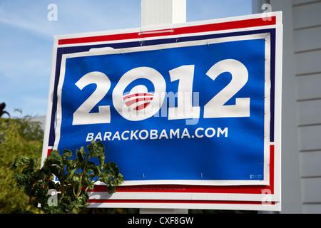 barack obama 2012 us presidential election poster florida usa - Stock Photo