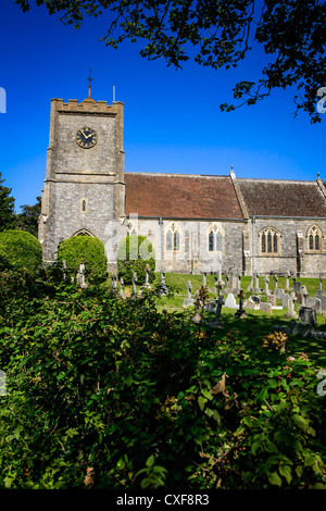 The Holy Trinity Church in West Lulworth Village Dorset - Stock Photo
