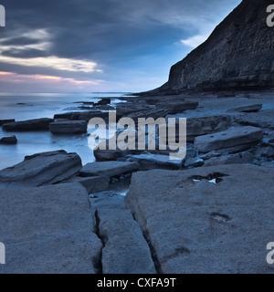 Dunraven Bay, Glamorgan Heritage Coastline - Stock Photo
