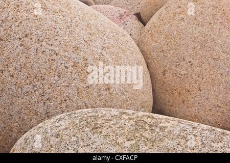 Porth Nanven boulders on the Cornish coastline. - Stock Photo