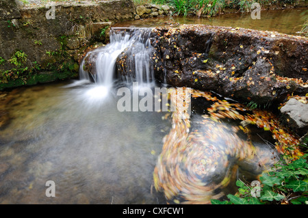 cascade en automne Var Barjols france 83 - Stock Photo