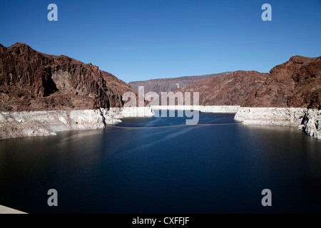Looking at Lake Mead from Hoover Dam, Nevada Side - Stock Photo