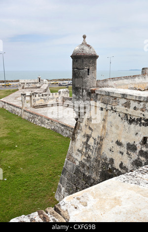 Fortified old city walls, Cartagena de Indias, Colombia - Stock Photo