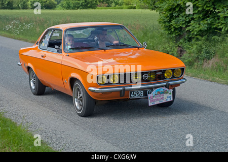Opel Manta A of 1972 in the Tour de Bretagne, France, 2012 - Stock Photo