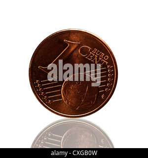 One Cent Euro Coin - Stock Photo