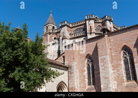 St Etienne Cathedral, Cahors, Lot, France - Stock Photo