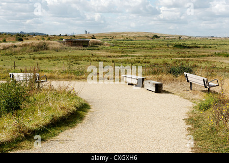 Rainham Marshes RSPB Reserve, Essex, September 2012 - Stock Photo