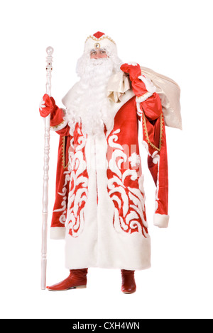 Ded Moroz (Father Frost) with a bag - Stock Photo