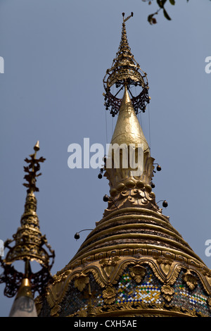 Chedi of the Buddhist Temple Wat Buppharam in Chiang Mai - Stock Photo