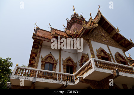 The Temple Wat Buppharam in Chiang Mai in Thailand - Stock Photo