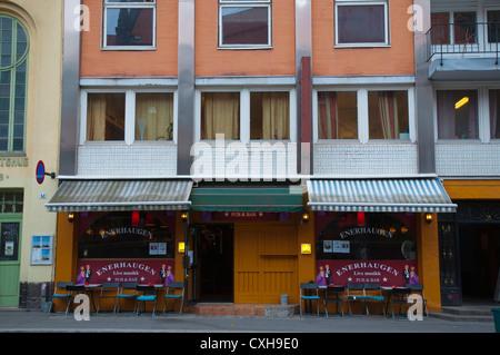 Pub exterior Gronlandsleiret street Gronland district central Oslo Norway Europe - Stock Photo