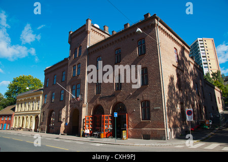 Local fire station building Gronlandsleiret street Gronland district central Oslo Norway Europe - Stock Photo