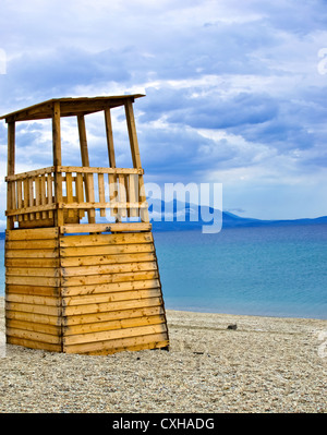 Life Guard Tower on the beach - Stock Photo