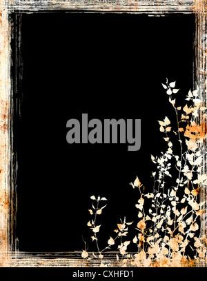 grunge foliage frame - Stock Photo