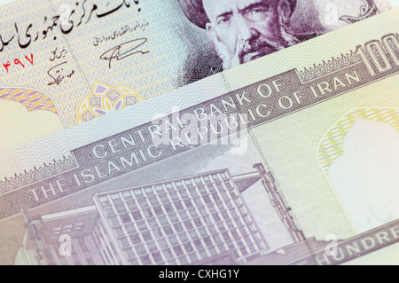 Central Bank of the Islamic Republic of Iran Iranian 100 Rial banknotes - Stock Photo
