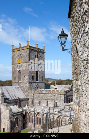 Views of beautiful St David's Cathedral, Pembrokeshire, Wales, Britain. UK, Europe. - Stock Photo