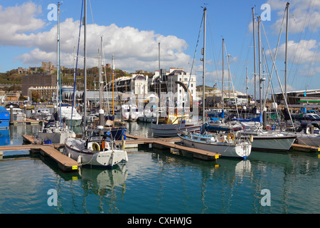 Dover Harbour Marina Kent England UK GB - Stock Photo