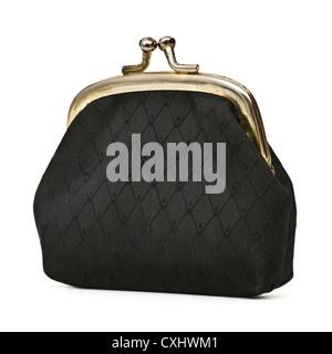 Vintage black ladies purse - Stock Photo