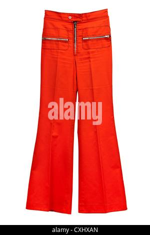 Vintage late 1960's flared ladies pants by Etam, part of a trouser suit. - Stock Photo