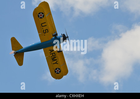 Stearman PT-17 biplane in US Army markings - Stock Photo