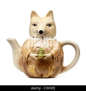 Novelty 'Fox' ceramic collector teapot - Stock Photo