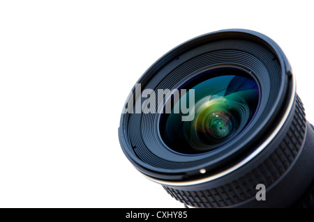 Close up image of a wide DSLR lens - Stock Photo