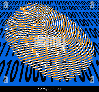 Digital fingerprint. - Stock Photo