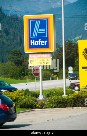 Hofer (Aldi) discount supermarket Photographed in Austria - Stock Photo