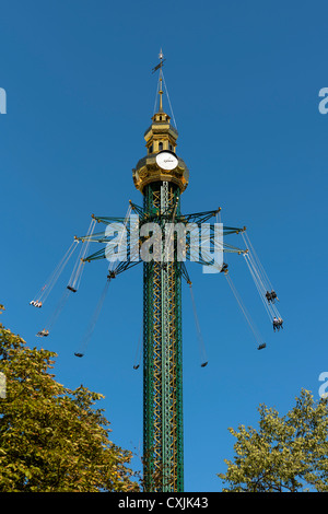 Swing Carousel at the Prater in Vienna, Austria - Stock Photo