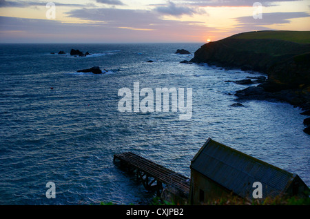 The Lizard, Cornwall, UK's most southerly point. - Stock Photo
