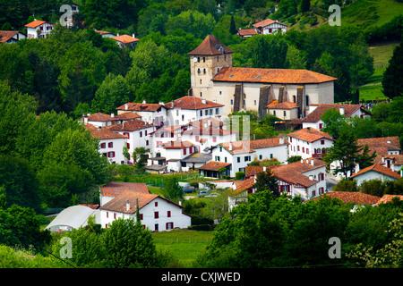 Espelette. Labourd, Pyrénées-Atlantiques, France. - Stock Photo