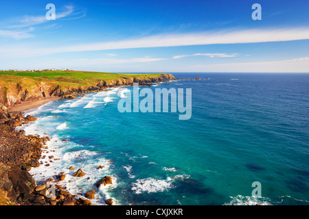 Pentreath Beach, Lizard Peninsula, Cornwall, England - Stock Photo
