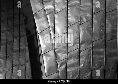 Detail of the steel cladding on the gates of the Thames Barrier at Woolwich, London, UK - Stock Photo
