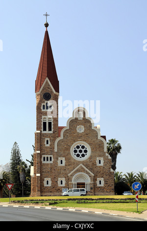 Christ Church (or Christuskirche) in Windhoek, Namibia - Stock Photo