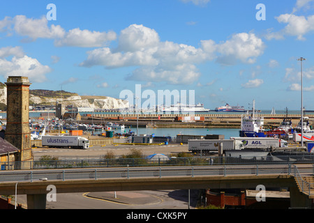 Dover harbour docklands Kent England UK - Stock Photo