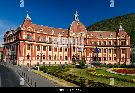 Central administration building of Brasov county, in Romania, XIXth century neobaroque architecture style. - Stock Photo