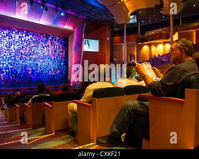 Aurora Theater, Royal Caribbean International, Radiance of the Seas Cruise Ship - Stock Photo