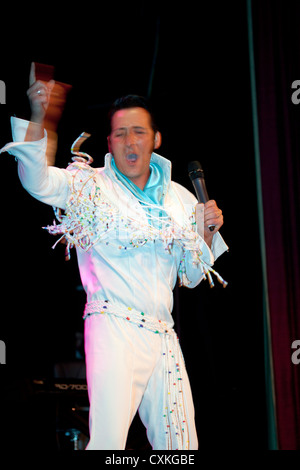 Elvis Fest - The Annual Elvis Presley Tribute Festival at Porthcawl South Wales - Stock Photo